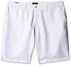 Nautica Men's Linen Shorts (8907163000385_NTB413001BW_40_Bright White)