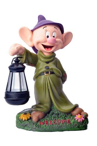 Woods International Disney Garden LED Statue, 12-Inch, Dopey