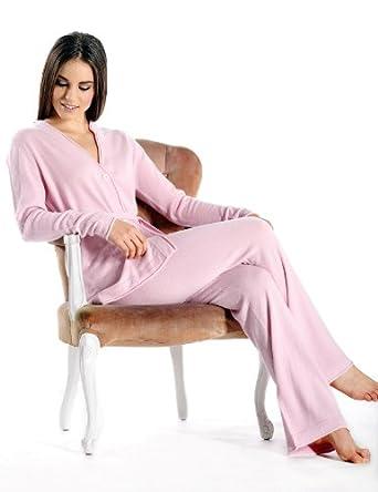 Pure Cashmere Lounge and Pajama Set for Women (Black, Large/Extra Large)