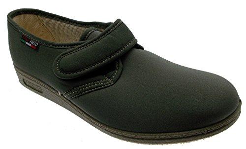 pantofola strappo cotone elasticizzato verde safari fisioterapia extra large 40 verde