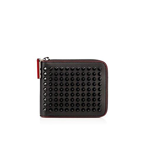 (クリスチャン ルブタン)Christian Louboutin Panettone Spikes Square Wallet Black Leather Black メンズ バッグ 財布 ウォレット [並行輸入品]