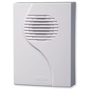 NuTone LA203RWH Wireless Plug-In Door Chime, Receiver Only, White Finish