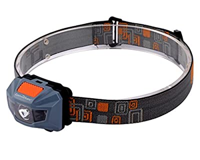 Canwelum High-power LED Headlamp, Running Headlamp, Camping Head Lamp Powered by 3 x AAA Batteries (Included)