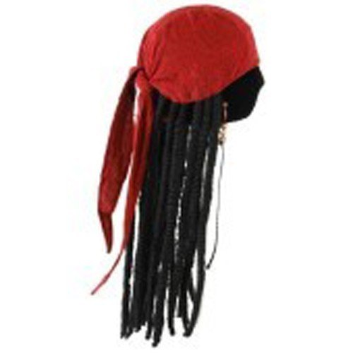 elope Jack Sparrow Scarf with Dreads (Jack Sparrow Wig compare prices)