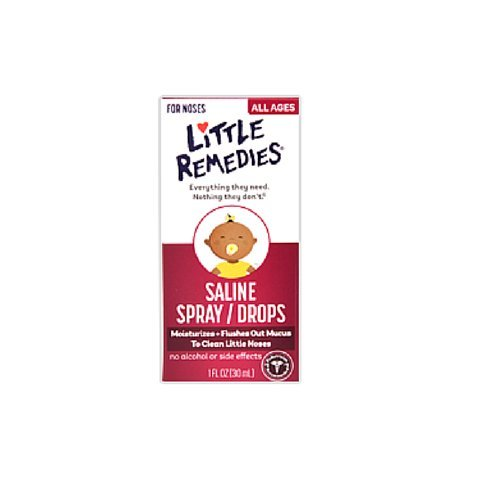 Little Remedies Little Noses Saline Spray-Drops -- 1 fl oz (Pack of 2) (Saline Spray Drops compare prices)