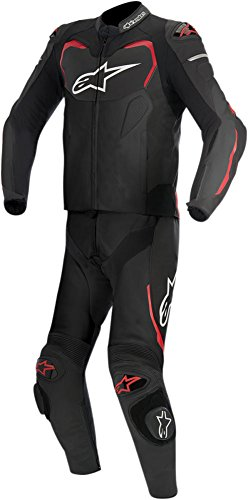 Alpinestars GP Pro 2-Piece Mens Leather Motorcycle Suit - Black/Red - 58