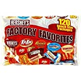 Hershey's Variety Factory Favorites, Snack Size, 120-Count (Pack of 2)
