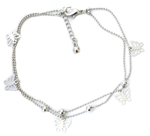 Silver Butterfly Charms Anklet/Ankle Bracelet