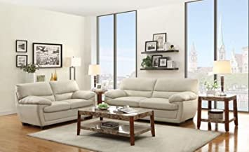 Homelegance Adrian Sofa In Taupe Bi-Cast Vinyl