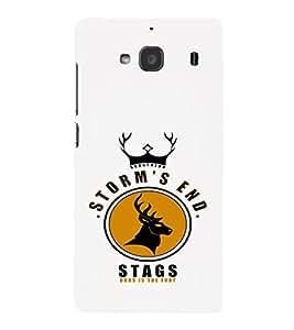 EPICCASE Storm's end stag Mobile Back Case Cover For Mi Redmi 2s (Designer Case)