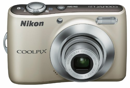 Nikon Coolpix L21 Digitalkamera (8,0 Megapixel, 3,6-fach Weitwinkelzoom, 6,2cm (2,5-Zoll) Display) Kit silber
