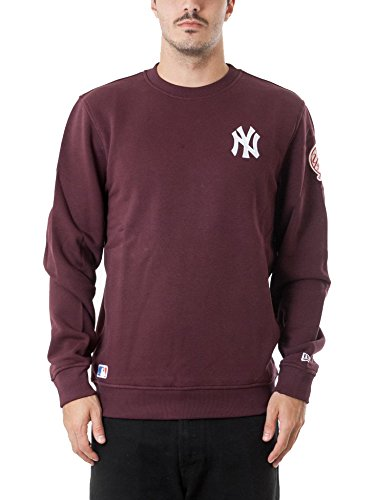 NEW ERA FELPA MLB NEW YORK YANKEES CREWNECK BORDEAUX UOMO-L