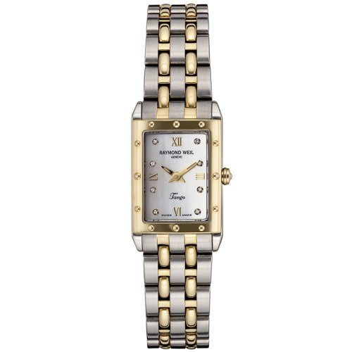 Raymond Weil Women's 5971-STP-00995 Tango Diamond Accented 18k Gold-Plated and Stainless Steel Watch