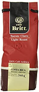 Cafe Britt Costa Rica Light Roast Ground Coffee, 12 Ounce Bag