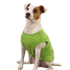Zack & Zoey 8-Inch Polyster Basic Dog Tank, XX-Small, Parrot Green