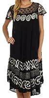 Sakkas Calista Embroidered Caftan Dress