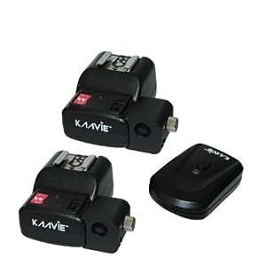 Channel 4 PT-04 Radio sans fil Déclencheur de Flash (2 récepteurs) avec porte-parapluie pour Nikon Canon Pentax Olympus Blitz