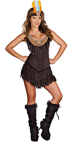 Dreamgirl Womens Sexy Native American Reservation Royalty Theme Party Costume
