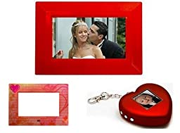 Nextar N7-201 7-Inch Digital Photo Frame with 1.5-Inch Digital Keychain