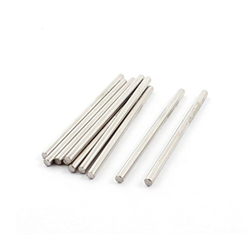 10Pcs 50x2.5mm Silver Tone Stainless Steel Shaft Axle Rod for RC Car