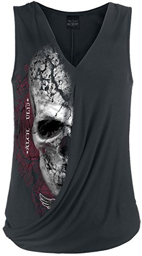 Alchemy England Devil Skull Pact Top donna nero 4XL