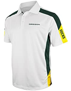 Oregon Ducks NCAA Bracket Performance Polo Shirt - White by Colosseum