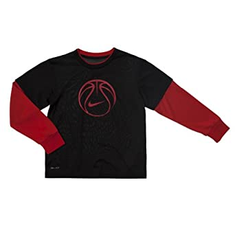 Nike Basketball Dri-fit Mock-layer Tee Boys by Nike