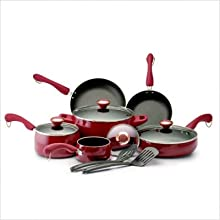 Paula Deen 19241 Signature Porcelain 12-Piece Cookware Set