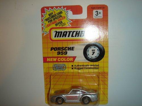 Matchbox Porsche 959 Silver #MB7 - 1