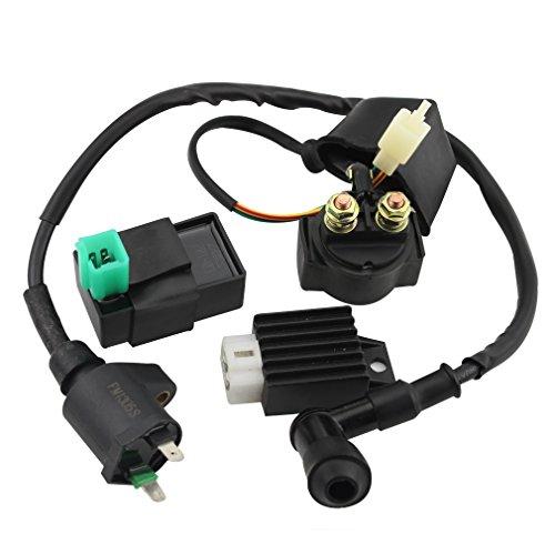 GOOFIT CDI Box Ignition Coil Solenoid Relay Voltage Regulator for 50cc 70cc 90cc 110cc 125cc ATV Dirt Bike and Go Kart (Dirt Bike Ignition Coil compare prices)