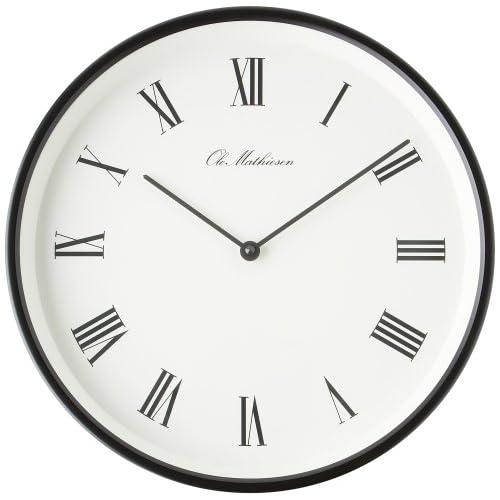 OLE MATHIESEN (オーレ・マティーセン) 掛け時計 Roman Clock Black OM1B/w R3 OMC-R310