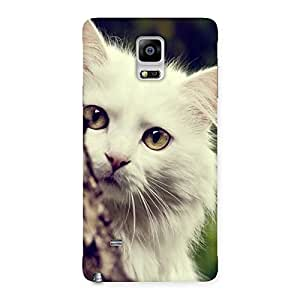 Gorgeous Hiding Cat Multicolor Back Case Cover for Galaxy Note 4
