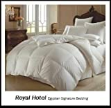 41sx 6c2ssL. SL160  Royal Hotels 1200 Thread Count Queen Size Siberian Goose Down Alternative Comforter 100% Egyptian Cotton 750FP, 50Oz & 1200TC   Solid White