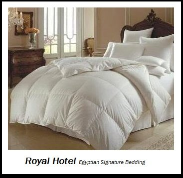 Royal Hotel's 1200 Thread Count California King Size Goose Down Alternative Comforter 100% Egyptian Cotton 1200 TC