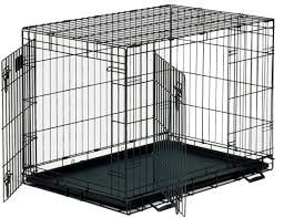 Petme Prima Durable Double Door Folding Dog Crate - Premium Pro Model w/ Divider and Tray (L)
