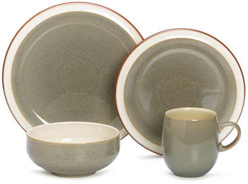 Denby Fire Sage 4-Piece Place Setting, Service For 1