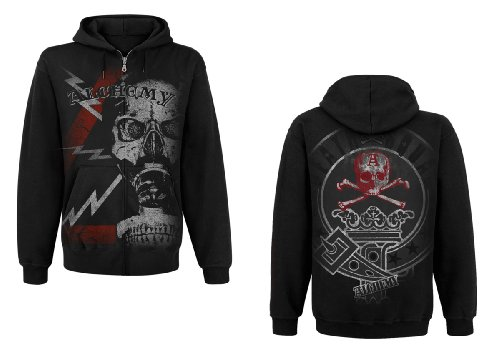 'Death Corps' - AEA Black Men's Hoody - Black - Small