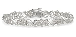 1.00 Carat TW Round Diamond Bracelet in .925 Sterling Silver