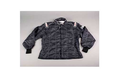 G-Force 4546LRGBK GF 545 Black Large Double Layer Racing Jacket