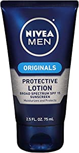 Nivea Men Skin Essentials Protective Lotion, Broad Spectrum SPF 15, 2.5 Ounce (Pack of 4)