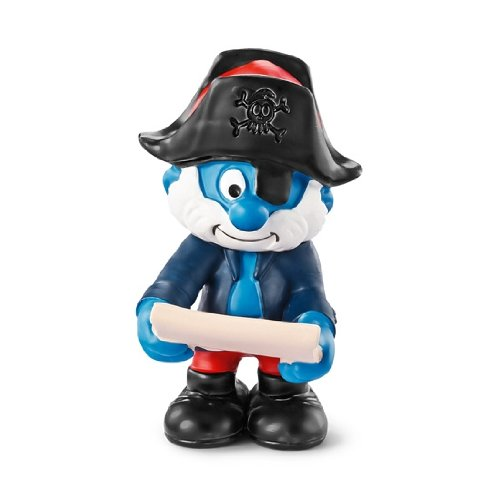 Schleich Captain Smurf Toy Figure - 1