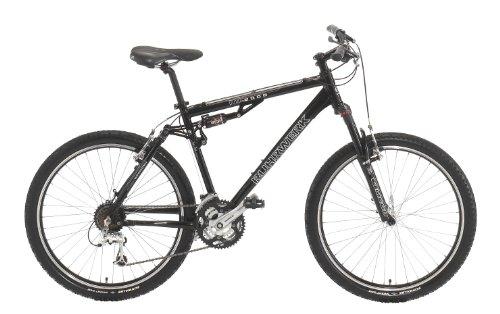 Ruhrwerk Herren Fahrrad MTB Alu Fully, 4-Link 24-Gang Shimano Deore LX Kettenschaltung , tiefschwarz, Rahmenhöhe: 48 cm, Reifengröße: 26 Zoll (66 cm)