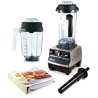 Vitamix Professional Series 500 Brushed Stainless Steel Blender With Wet Container, Dry Grains Container, and 2 Cookbooks from Vitamix