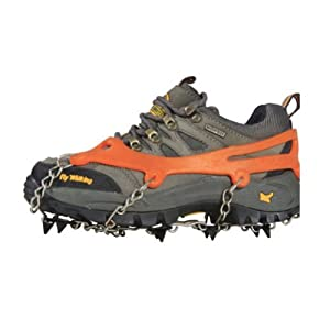 Buy 2x Anti-slip Ice Cleats Shoe Boot Tread Grips Traction Crampon Chain Spike Sharp Snow Walking Walker by Astra Depot