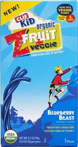 Clif Kid Organic Z Fruit And Veggie Blueberry Blast Snacks, 0.7 Ounce - 5 Per Pack -- 6 Packs Per Case. front-939340