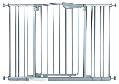L a baby tall metal auto close safety gate with