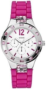 Guess Damen-Armbanduhr Analog Quarz Silikon W10615L2