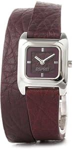 Esprit - ES105702003 - Gavity - Montre Femme - Quartz Analogique - Cadran Rouge - Bracelet Cuir Rouge