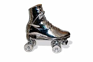 Areaware HARSKC Roller Skate Door Stop, Chrome