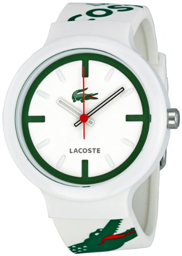 Lacoste GOA White Dial White and Green Logo Strap Unisex Watch 2010522